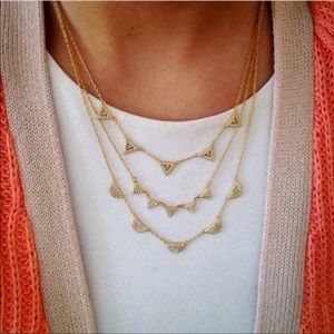 Gold Pave Chevron Necklace by Stella & Dot
